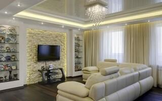 Освещение в гостиной: рекомендации по выбору светильников.