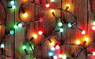 Новогодняя гирлянда из ламп накаливания своими руками