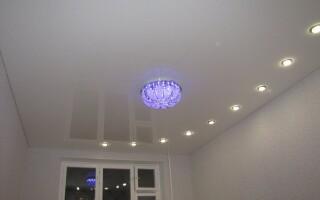 Светильники для натяжных потолков: рассмотрим основные виды освещения.