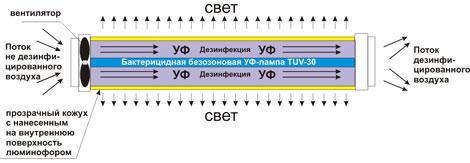 Принцип работы бактерицидной лампы