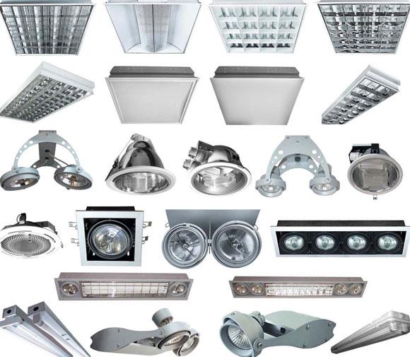 Разновидности светильников.