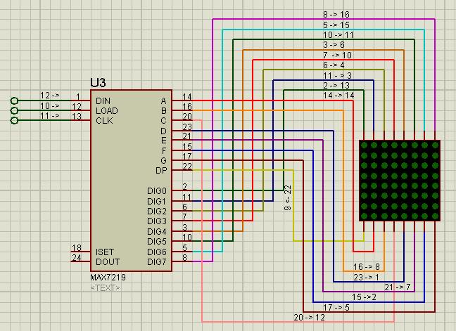 Схема-подключение светодиодной матрицы.
