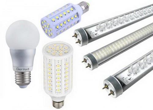 Варианты диодных световых приборов.